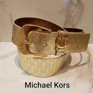 Michael Kors Signature Logo Belt sz M